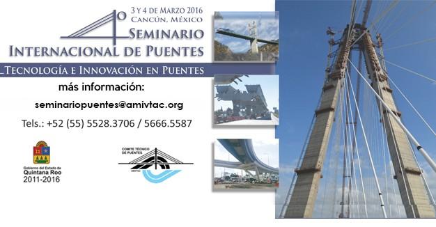 "BERD no ""4º Seminario Internacional de Puentes"", México"